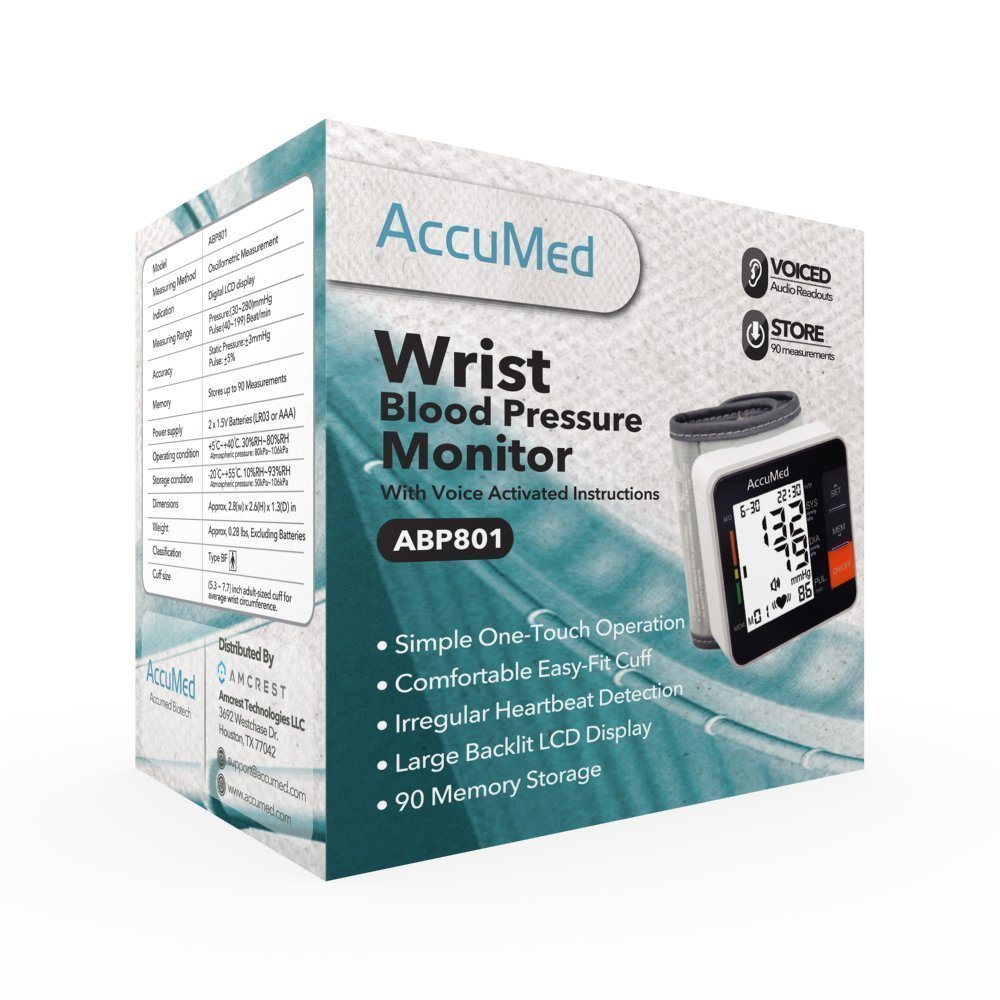 AccuMed Portable Wrist Blood Pressure Monitor