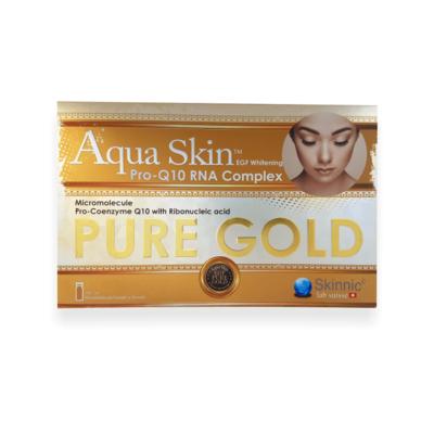 Aqua Skin Egf Whitening Pro-Q10 RNA Complex PURE GOLD 24 vials Complete Set