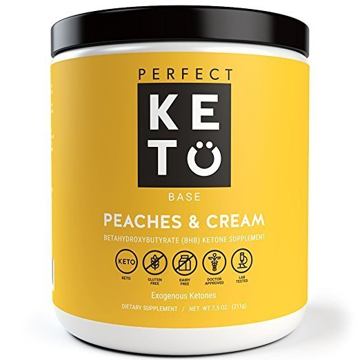 Perfect Keto Base Exogenous Ketone Supplement Peaches and Cream  211g