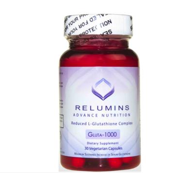 Relumins Advance Nutrition GLUTA 1000 - Reduced L-Glutathione Complex - 60 Vegetarian Capsules