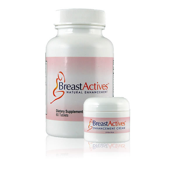Breast Actives Breast Enhancement Pills and Cream 60caps+59ml