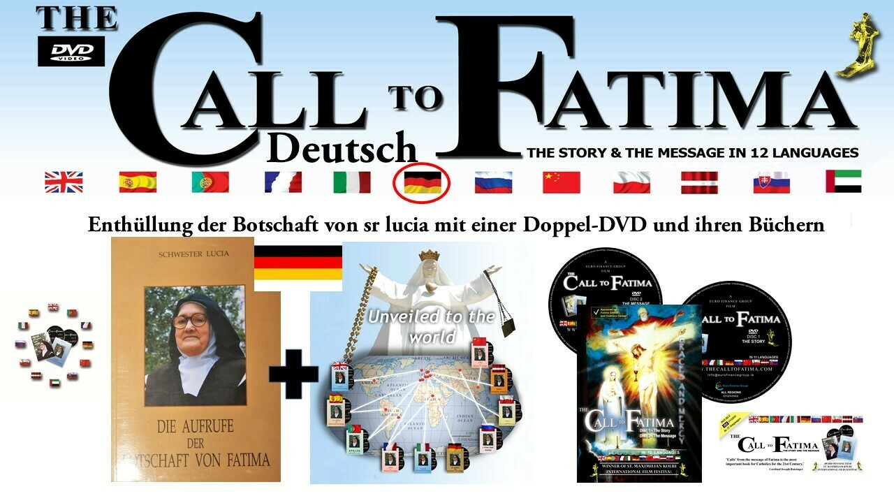"""""""Fatima in Lucia's own Words"""" + 2 DVDs """"The Call to Fatima"""" German Edition"""