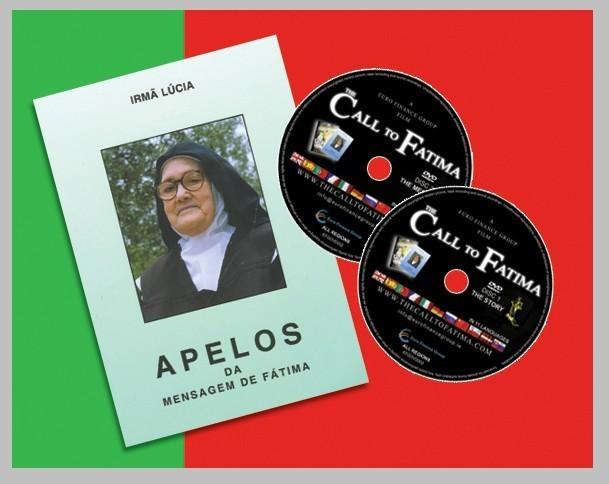 """Apelos Da Mensagem De Fátima (Livro Da Irmá Lúcia De Fatima) con Duplo DVD """"O Apelo de Fátima"""""""