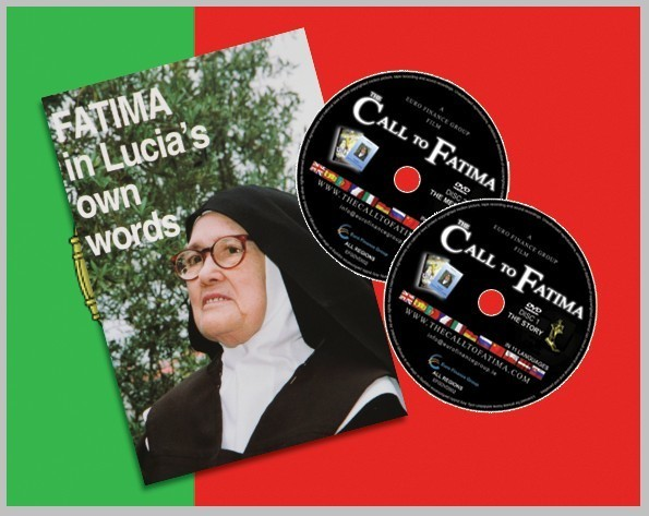 """Fatima in Lucia's own words"" + 2 DVDs ""The Call to Fatima"" in Portuguese"