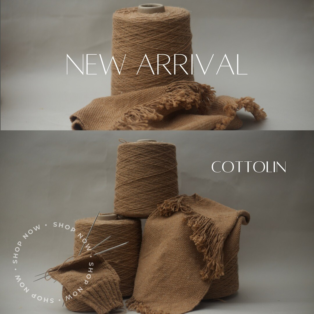 Cottolin 25% Chico Flax, 75% Natural Brown Cotton