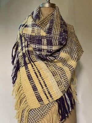 Clothing - Lindsey Woolsey Natural Dyed Shawl