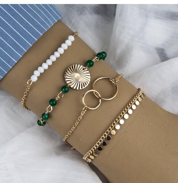 Mixed Style Stackable Bracelet Set