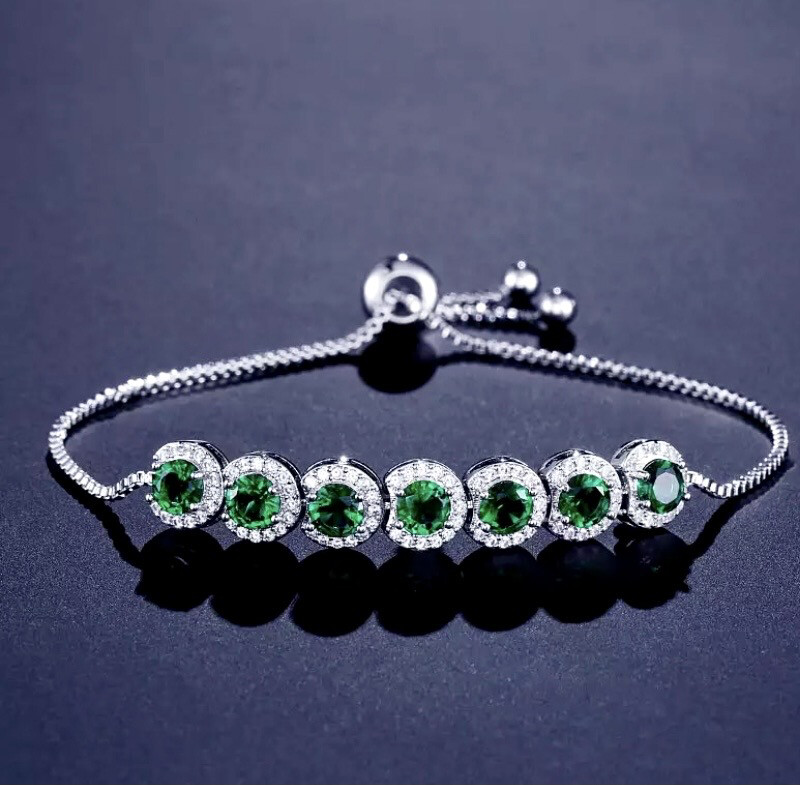 Emerald Green Extendable Bracelet