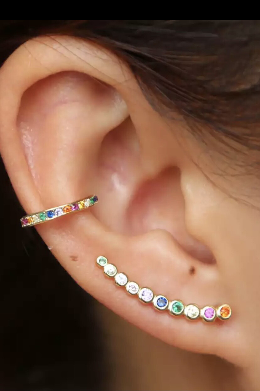Climber And Cuff Earrings