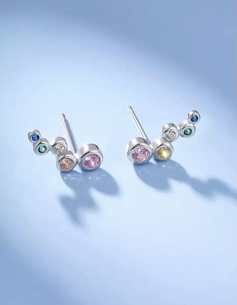 Stud Silver Earrings
