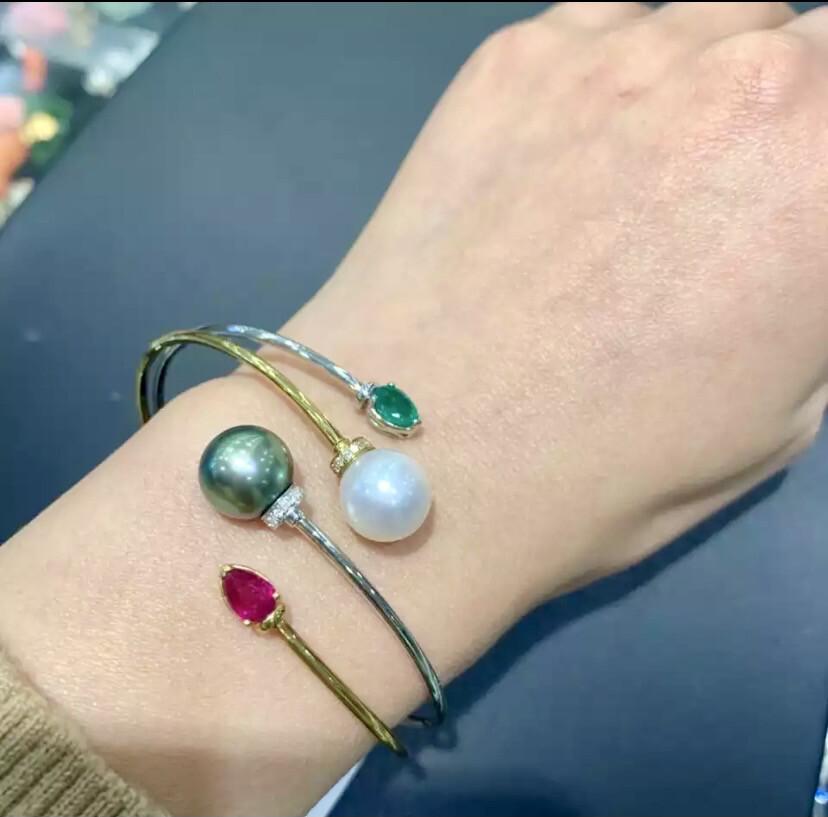 Tahitian Pearl Cuff Bracelet