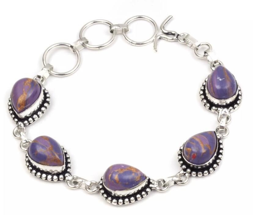 Silver Plated Moonstone Bracelet