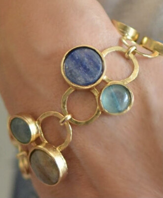 Handmade Labradorite Gemstone Bracelet