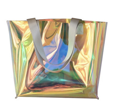 Holographic Beach Tote Bag