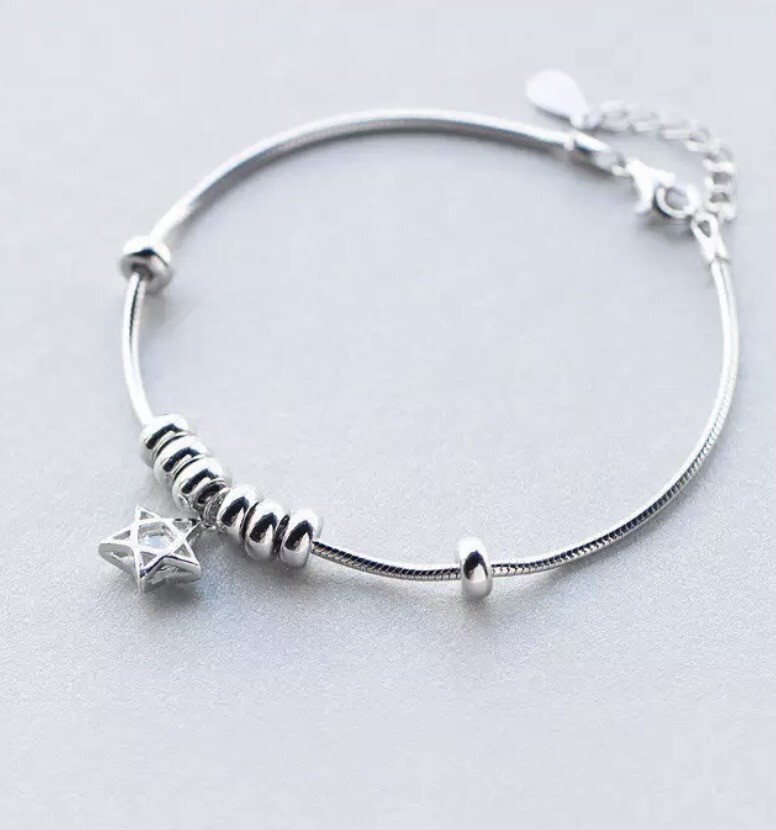 Anti anxiety/ Fidget Bracelet  Sterling Silver