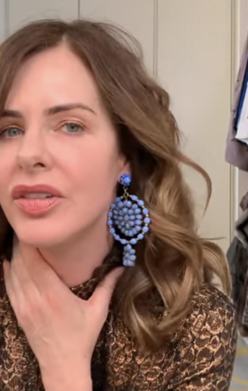 Handmade Blue Earrings