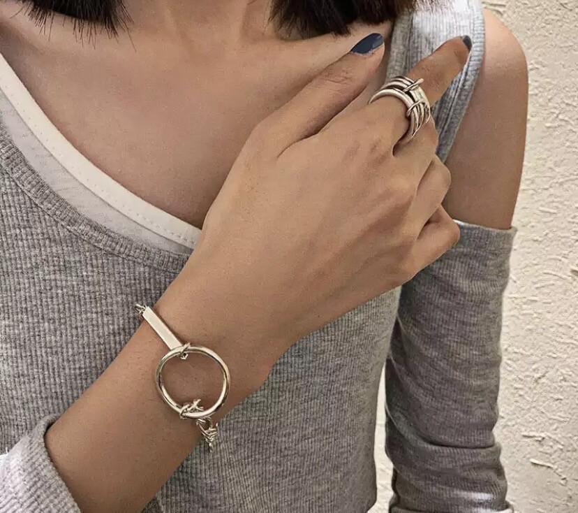 Circle Silver Bracelet