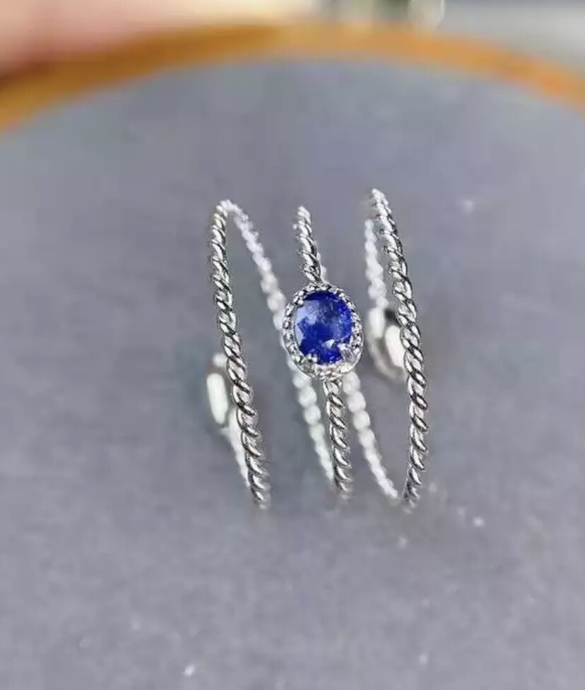 Multilayered Sapphire Ring