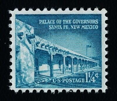 USA 1031a Shiny Gum MNH Palace of the Governors, Santa Fe