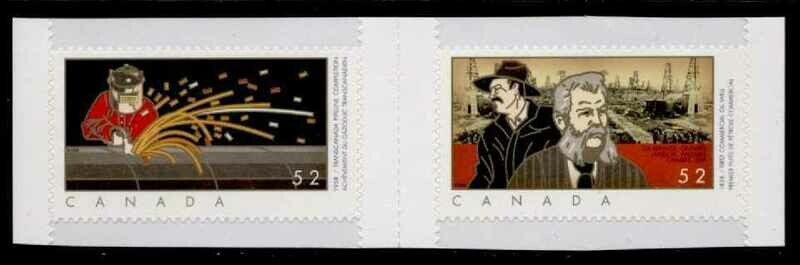 Canada 2268a gutter pair MNH First Commercial OilWell, TransCanada Pipeline