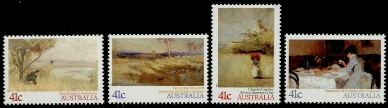 Australia 1146-9 MH - Art, Impressionist Paintings