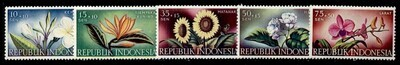 Indonesia B104-8 MNH Flowers, Orchid