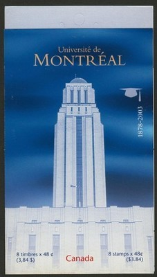 Canada 1977a Booklet BK273b MNH University of Montreal
