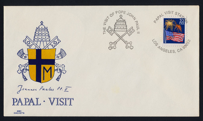 USA 2276 on cover - Pope John Paul II visit to America Cachet, Los Angeles Cancel