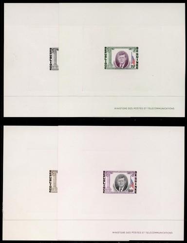 Guinea 325-7,C56 Deluxe Sheets MNH John F. Kennedy