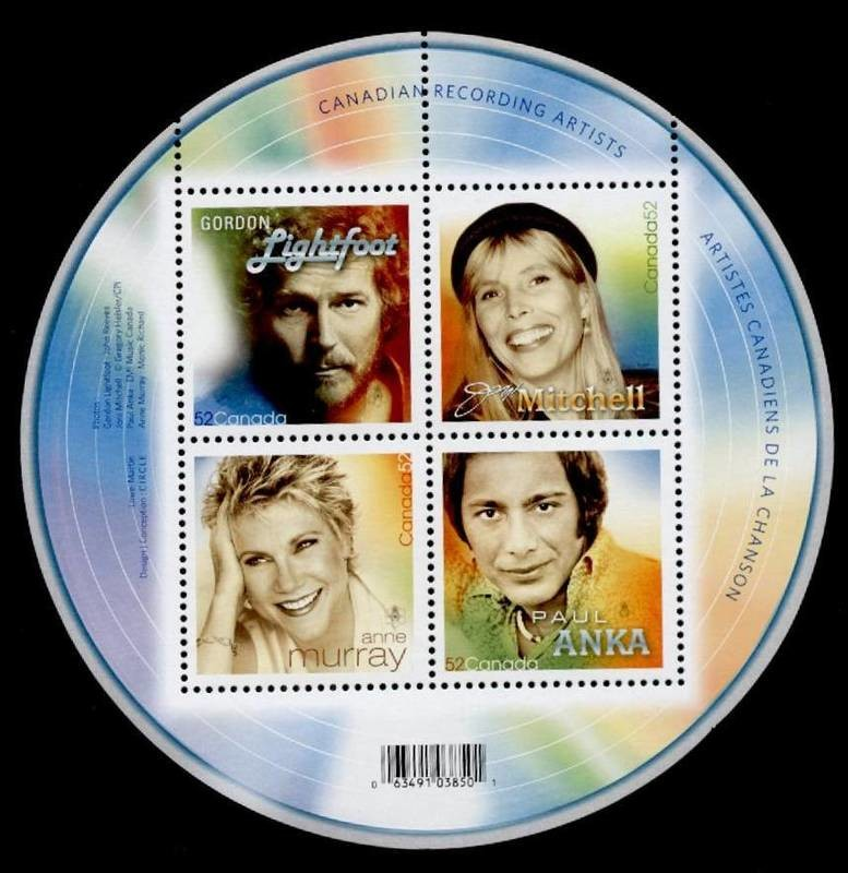 Canada 2221 MNH Music, Canadian Recording Artists