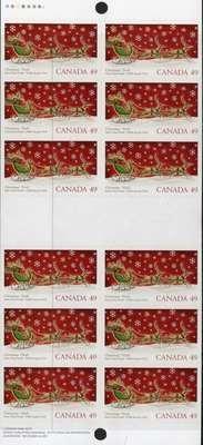 Canada 2069b Booklet MNH Christmas, Sleigh, Santa, Reindeer