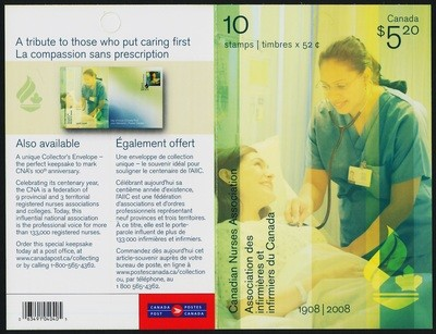 Canada 2275a booklet MNH Canadian Nurses Association
