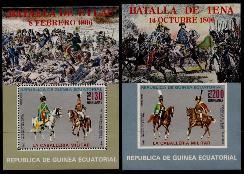 Equatorial Guinea MIBK 207-8 MNH Battle of Iena, Horses, Military Uniforms