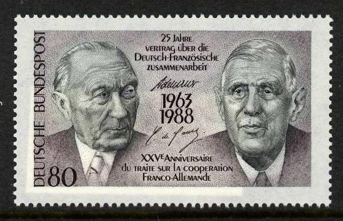 Germany 1546 MNH Charles De Gaulle, Adenauer