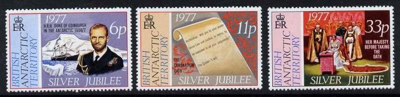 British Antarctic Territory 68-70 MNH - Queen Elizabeth, Silver Jubilee