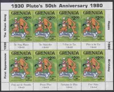 Grenada 1031 Sheet MNH Disney, Pluto, Dog, Birthday