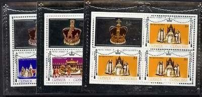 Grenada Grenadines 213-5 Sheets Perf 11 MNH Queen Elizabeth Silver Jubilee