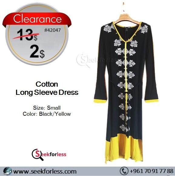 Woman Dress (Black-Yellow)