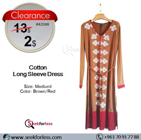 Woman Dress (Brown/Red)