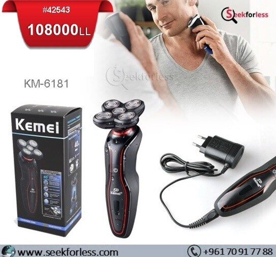 """KEMEI"" 5D Rotary Shaver (KM-6181)"