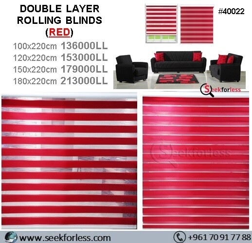 Double Layer Rolling Blinds - RED