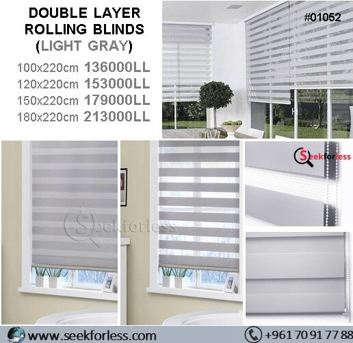 ​Double Layer Rolling Blinds - GRAY