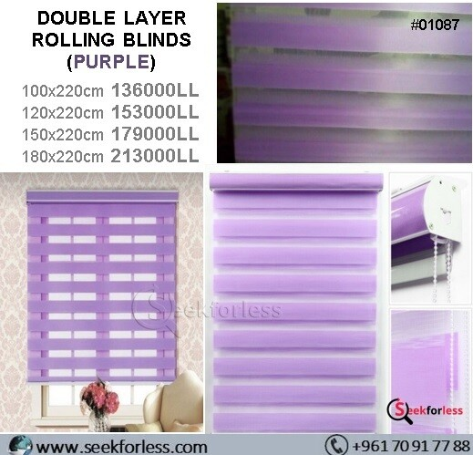 ​Double Layer Rolling Blinds - PURPLE