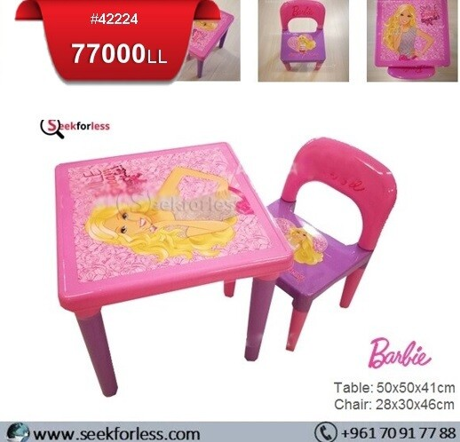 Plastic Table/ Chair (BARBIE)