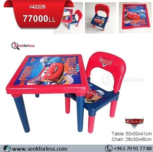 Plastic Table/ Chair (CARS)