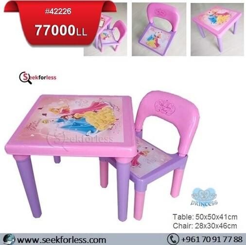 Plastic Table/ Chair (PRINCESS)