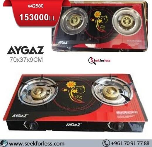 """""""AYGAZ"""" Gas Cooker Stove /2 Burners"""