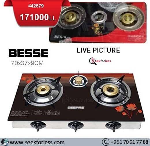 ​BESSE Gas Cooker Stove /3 Burners
