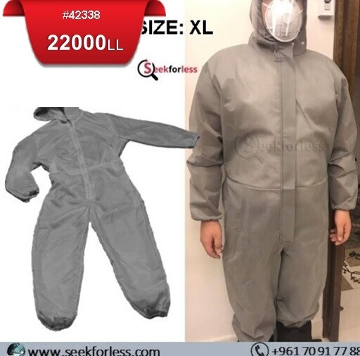 Coverall Suit With Hood - XL
