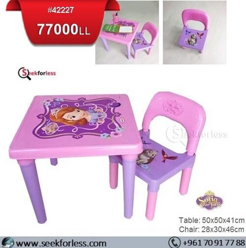 Plastic Table/ Chair (SOFIA)